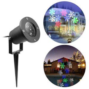 Vánoční venkovní osvětlení - laserový LED projektor