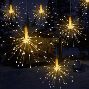 Vánoční prskavky z LED světýlek
