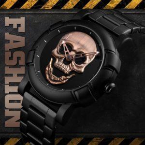 Pánské trendy hodinky s lebkou Brandt