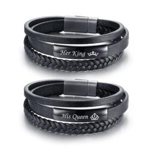 Náramek His queen/Her king