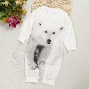 Kojenecký - batolecí overal s potiskem ledního medvěda