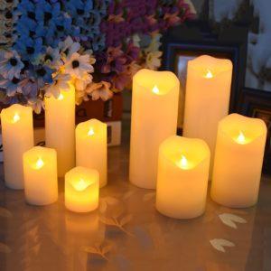 Parafínové svíčky s LED diodou