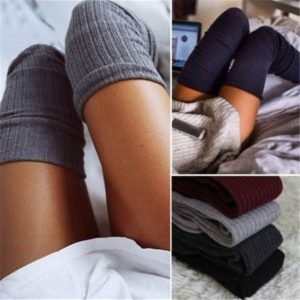 Women Socks Stockings Warm Casual Thigh High Over the Knee Socks Long Cotton Stockings Sexy Stockings 7 Color