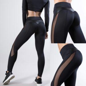 2020 New Leggings Women Pants Push Up Fitness Breathable Leggins High Waist Mesh Pants Female Seamless Slim Workout Pants