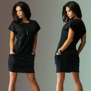 Dámské pohodlné letní krátké šaty
