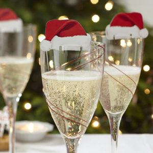 Vánoční čepičky na skleničky
