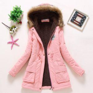 Dámská zimní bunda s kožíškem SARA