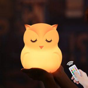 Silikonové noční LED světlo - Sova