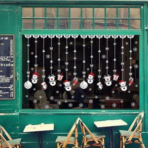 Vánoční samolepky do oken - dekorace do bytu/domu