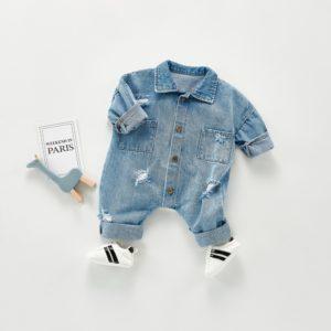 Novorozenecký džínový overal / kombiné Taillefer