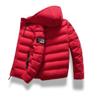 Pánská zimní prošívaná bunda s kapucí Peter