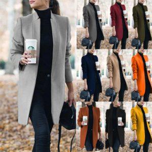 Dámský elegantní podzimní kabát Shiloh