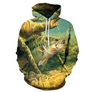 Plus size mikina s rybářským motivem