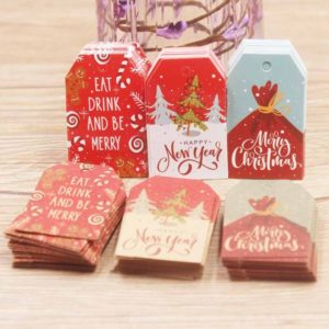 Barevné vánoční kartičky na dárky