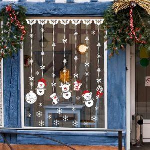 Vánoční dekorace - samolepky na okna
