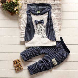 Dětský jarní módní set - mikina s kapucí a kalhoty