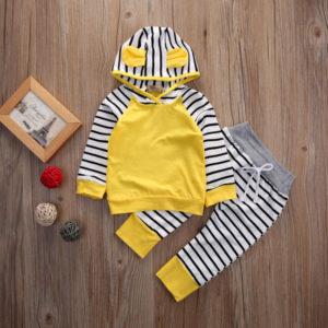 Dětský jarní set - mikina a oušky a tepláky