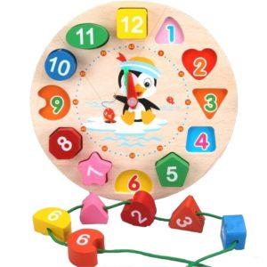Geometrické dětské 3D hodiny