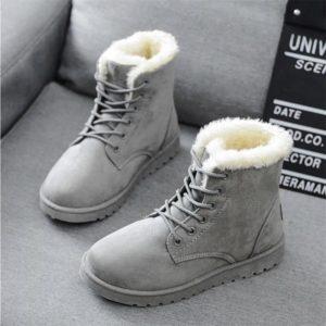 Dámské trendy zimní kotníkové boty Lea