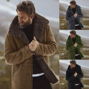 Pánský zimní kabát s kožíškem Buiron