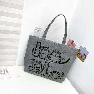 Dámská kabelka s potiskem koček