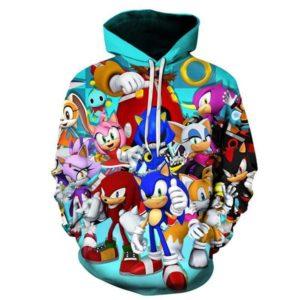 Chlapecká 3D mikina Sonic