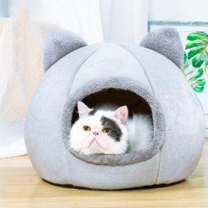 Krásný teploučký pelíšek pro kočky Kattie