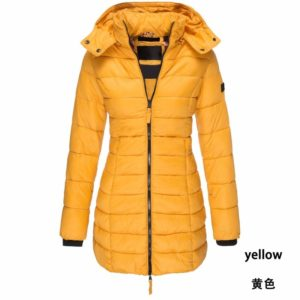 Women Parka Winter Fashion Hooded Warm Coat Solid Slim Cotton Padded Jacket Long Parka Women Wadded Cotton Parka