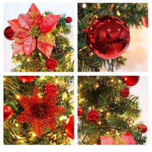 Vánoční dekorační řetěz s LED světýlky