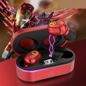 Bluetooth vodotěsná přenosná sluchátka s motivem superhrdinů