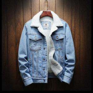 Pánská džínová zimní bunda s kožíškem Jonathan