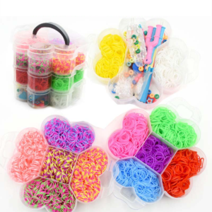 Sada pro doplnění nových gumiček na pletení náramků