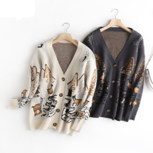 Dámský ležérní svetr s knoflíky Mia