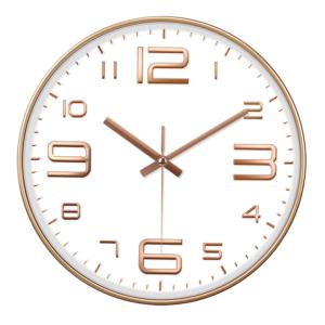 Velké nástěnné hodiny v elegantním dekoru