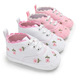 Dětské botičky pro holčičky s kytičkami