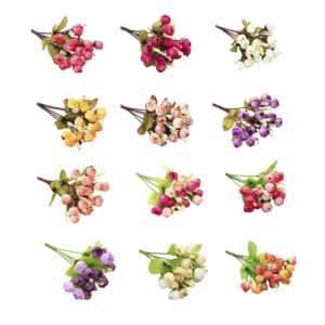 Umělé dekorativní hedvábné květiny