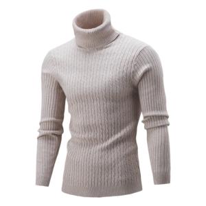Pánský přiléhavý zateplený svetr Kalim | jaro- podzim
