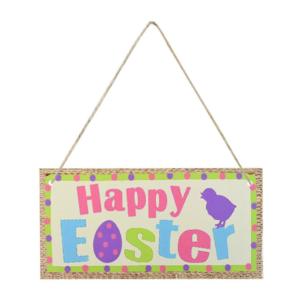 Velikonoční dřevěné dekorační závěsné tabulky