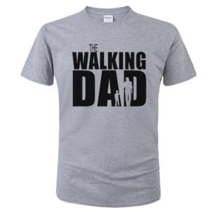 Pánské vtipné tričko Walking Dad černý potisk