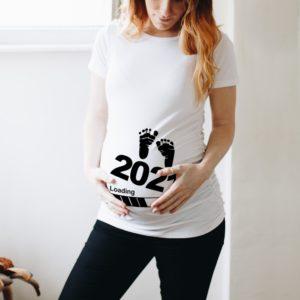 Dámské moderní těhotenské triko Baby 2021