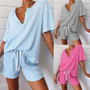 Dámské dvoudílné ležérní pyžamo