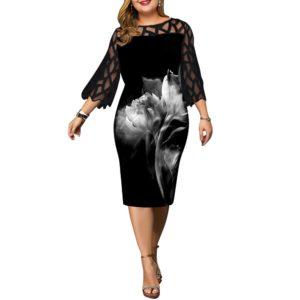 Dámské plus size elegantní šaty Belinda