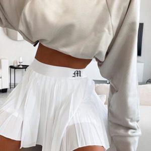 Dámská řasená mini sukně