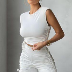 Dámský módní letní komplet Monica   top + kraťasy
