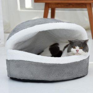 Krásný bavlněný kočičí pelíšek