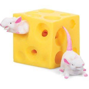 Antistresová mačkací hračka ve tvaru sýru