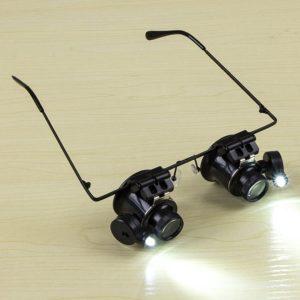 Zvětšovací brýle s 20x přiblížením se svítilnou