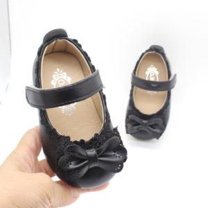 Dětské letní sandálky na suchý zip s mašlí