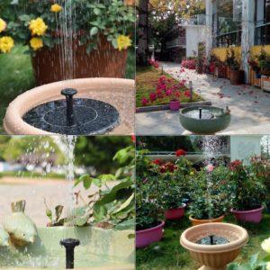 Plovoucí solární zahradní fontána (13.5x13.5x3.8cm)