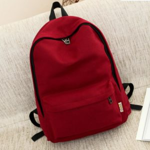 Plátěný jednobarevný batoh